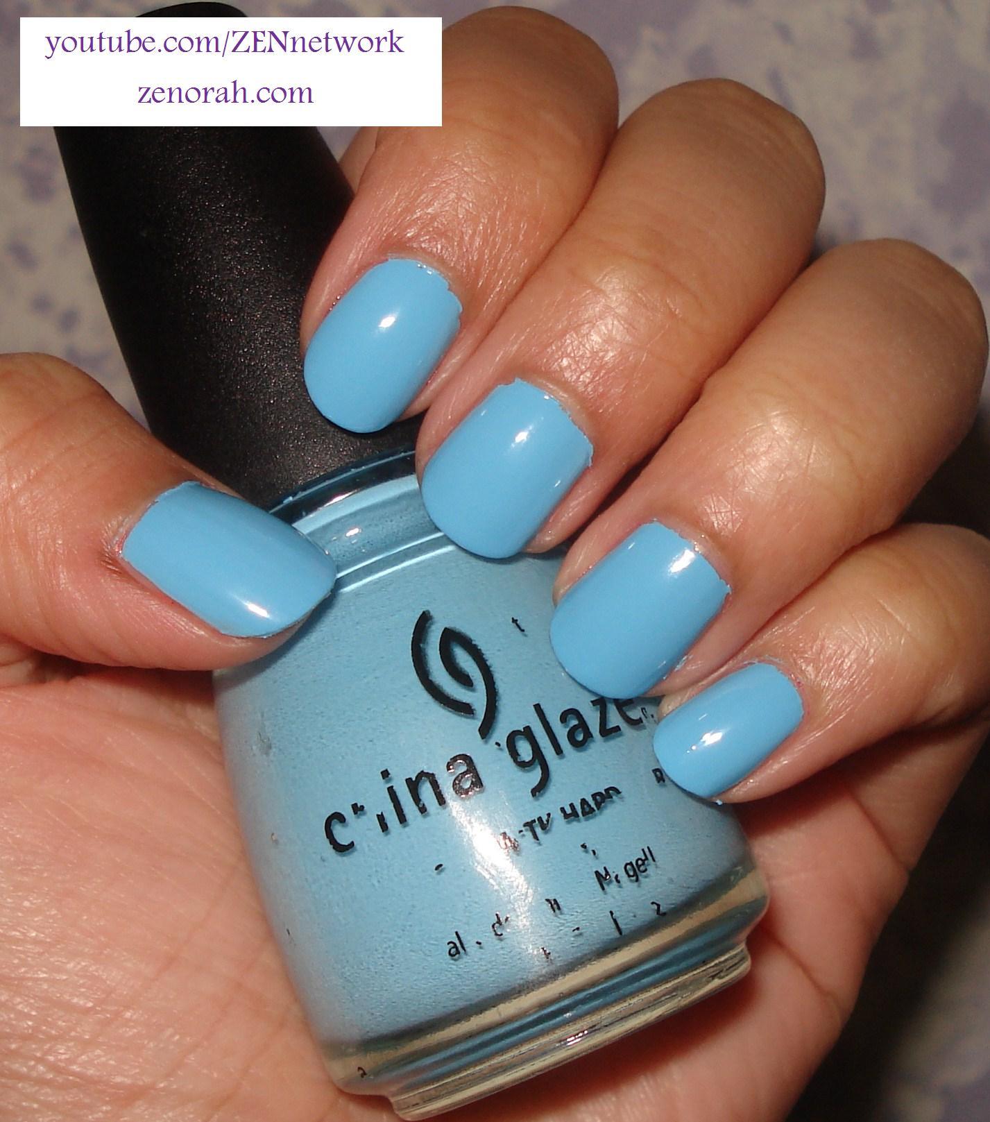 China Glaze Baby Blue Nail Polish