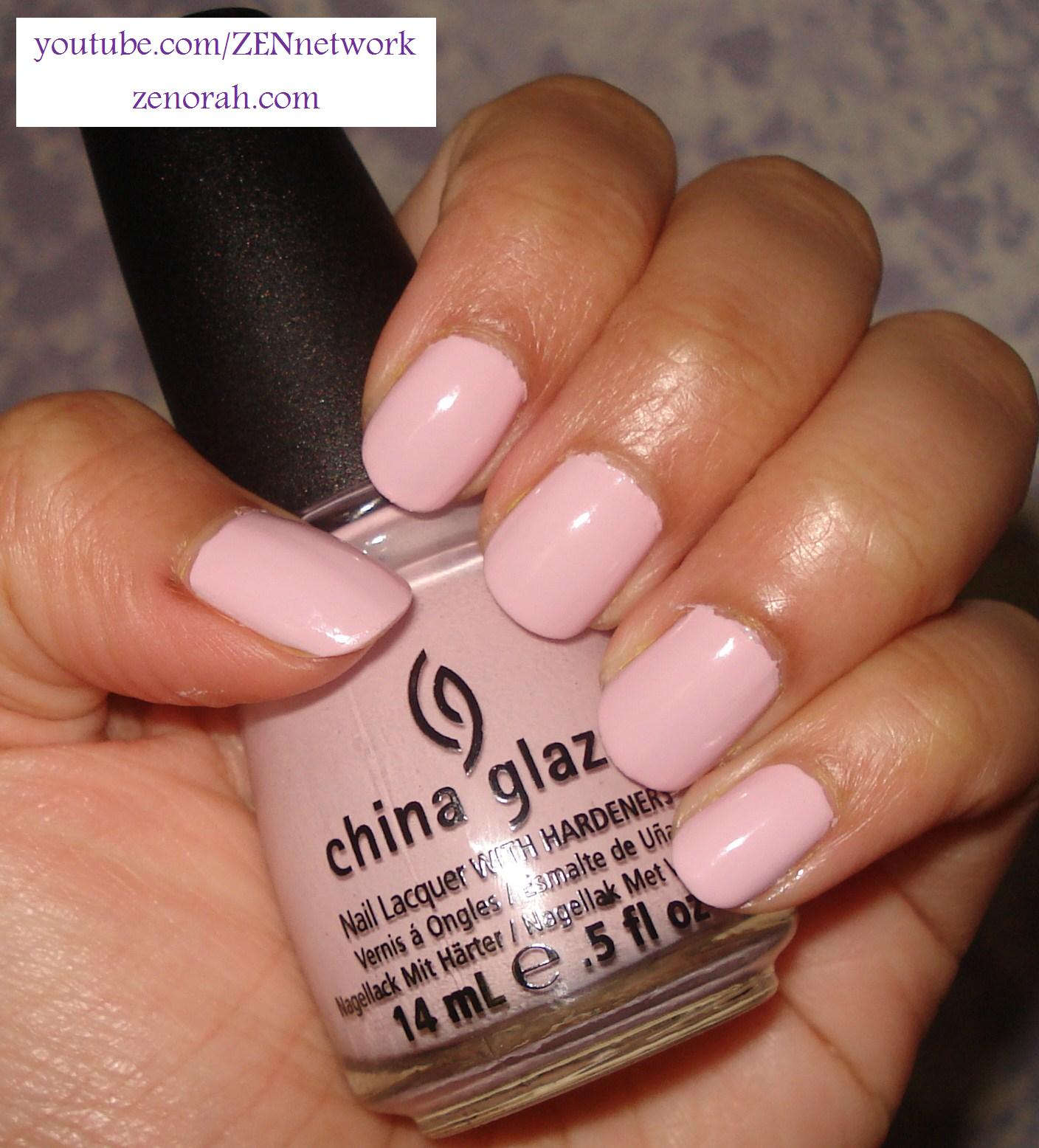 toe nail hint sugar a of tip lacquer nude light with polish classic tac pink lustre lilac