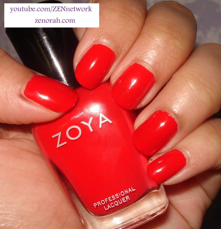 Red Nail Polish On Thumb: Zoya Flash Collection 2010