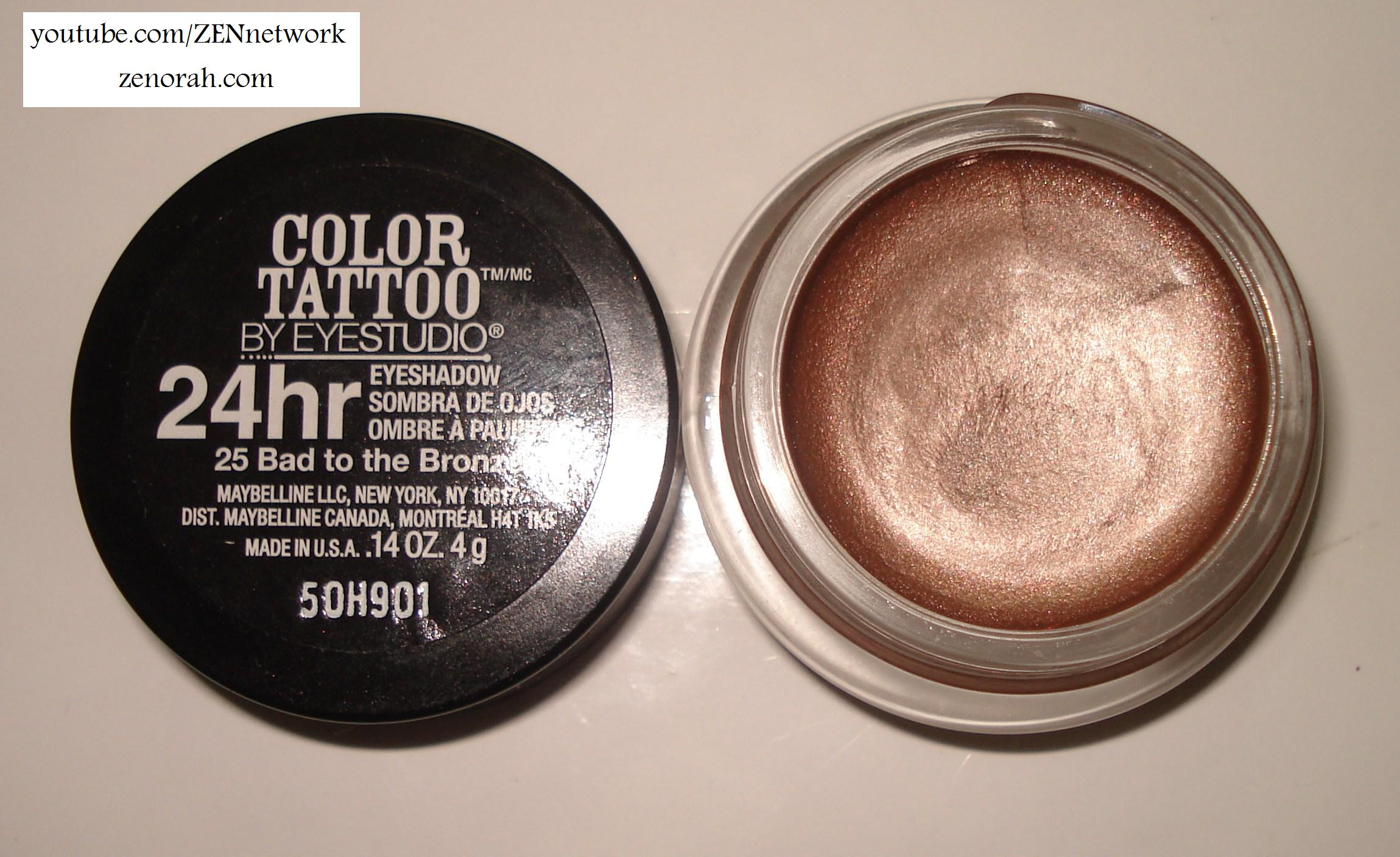 Maybelline 24 hour colour tattoo bad to the bronze zenorah maybelline baditri Image collections