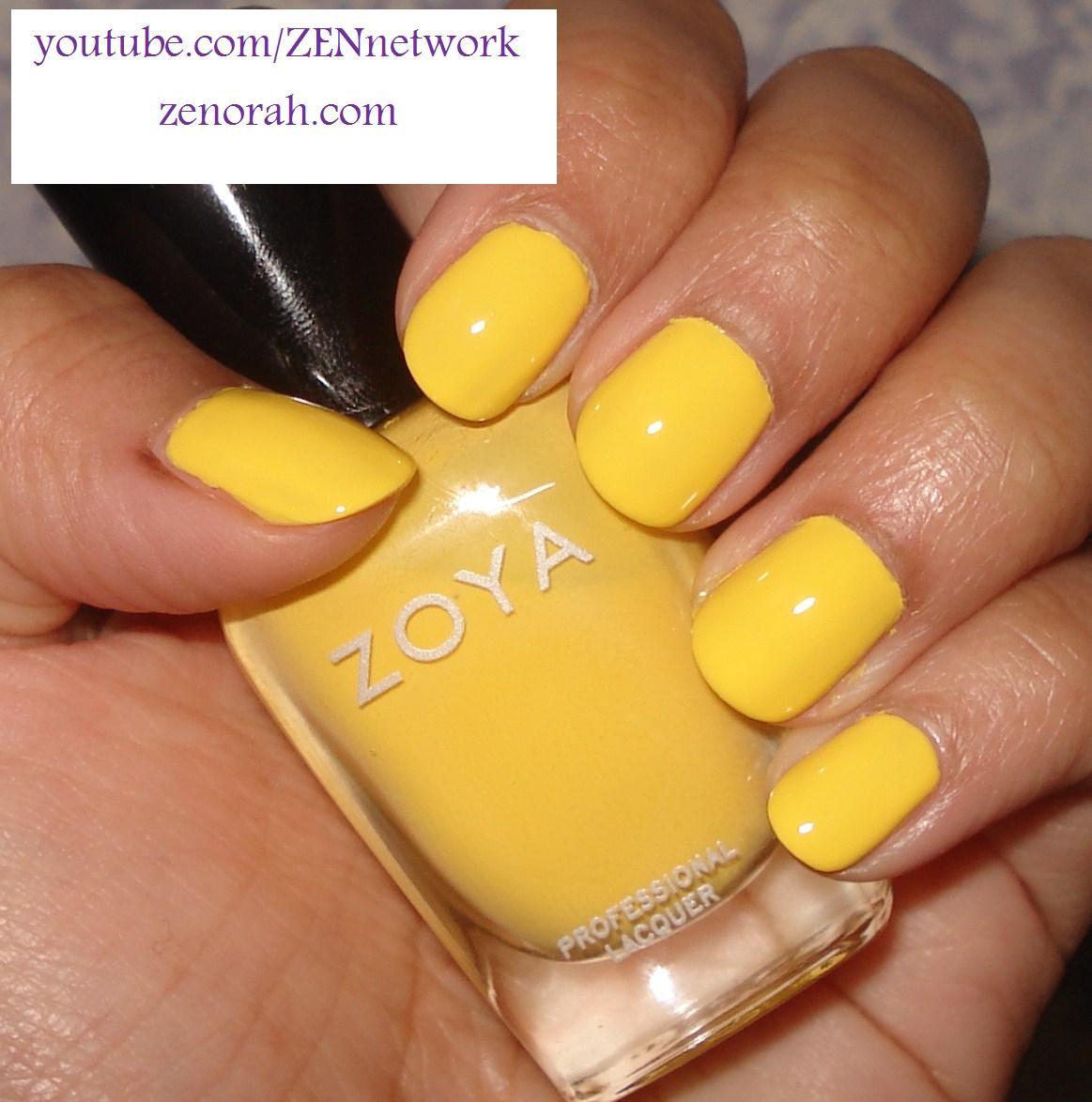 Yellow Nail Polish On: Zoya Yellow Nail Polish