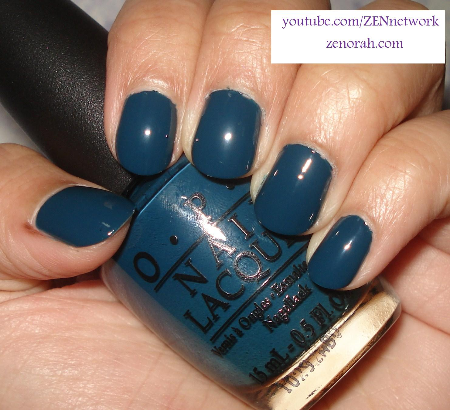 Opi Ski Teal We Drop Revisited Zenorah