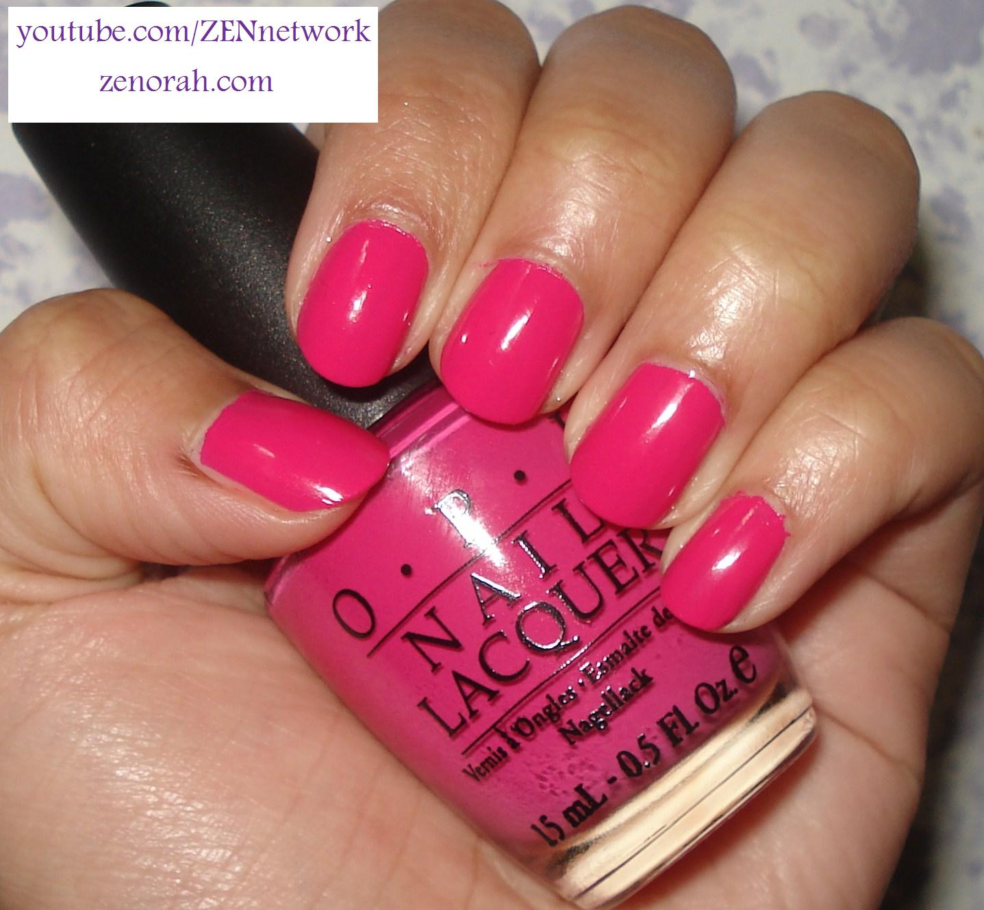 Bright Pink Nail Polish Colors: OPI Pink Flamenco