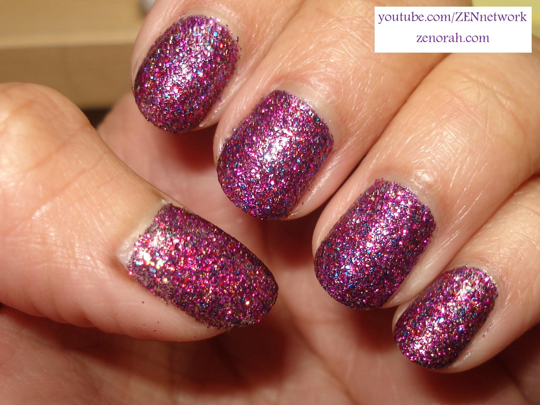 The Awesome Purple nails with glitter Digital Imagery