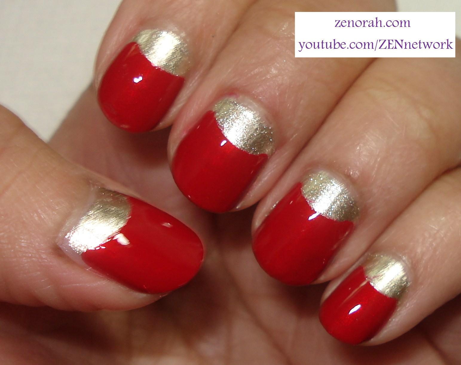 Red And Gold Nail Designs Tumblr Prom Besides Matte Bla...