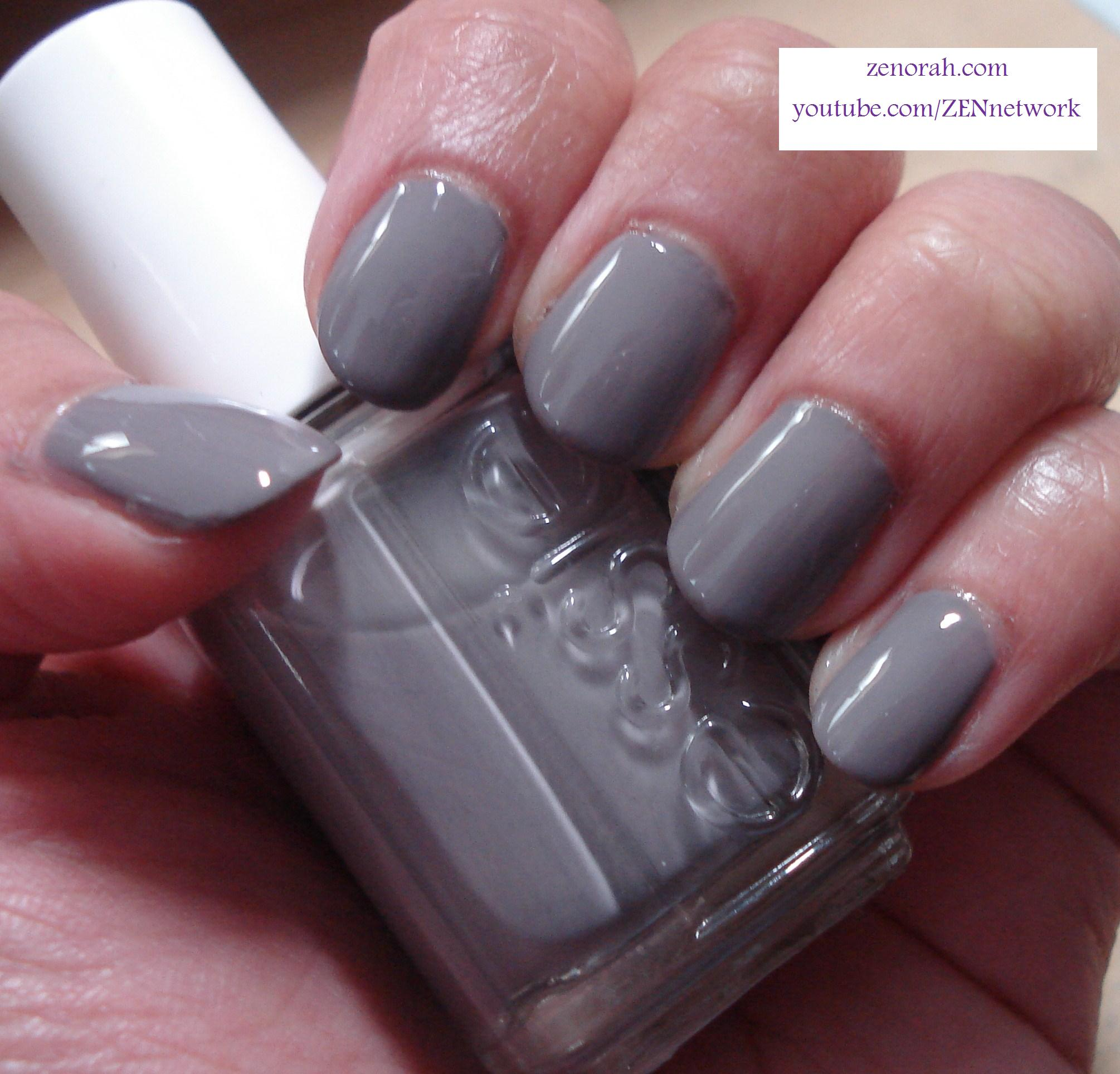 Blue Grey Nail Polish Essie: Essie Chinchilly & Zoya Maisie (Mattified)