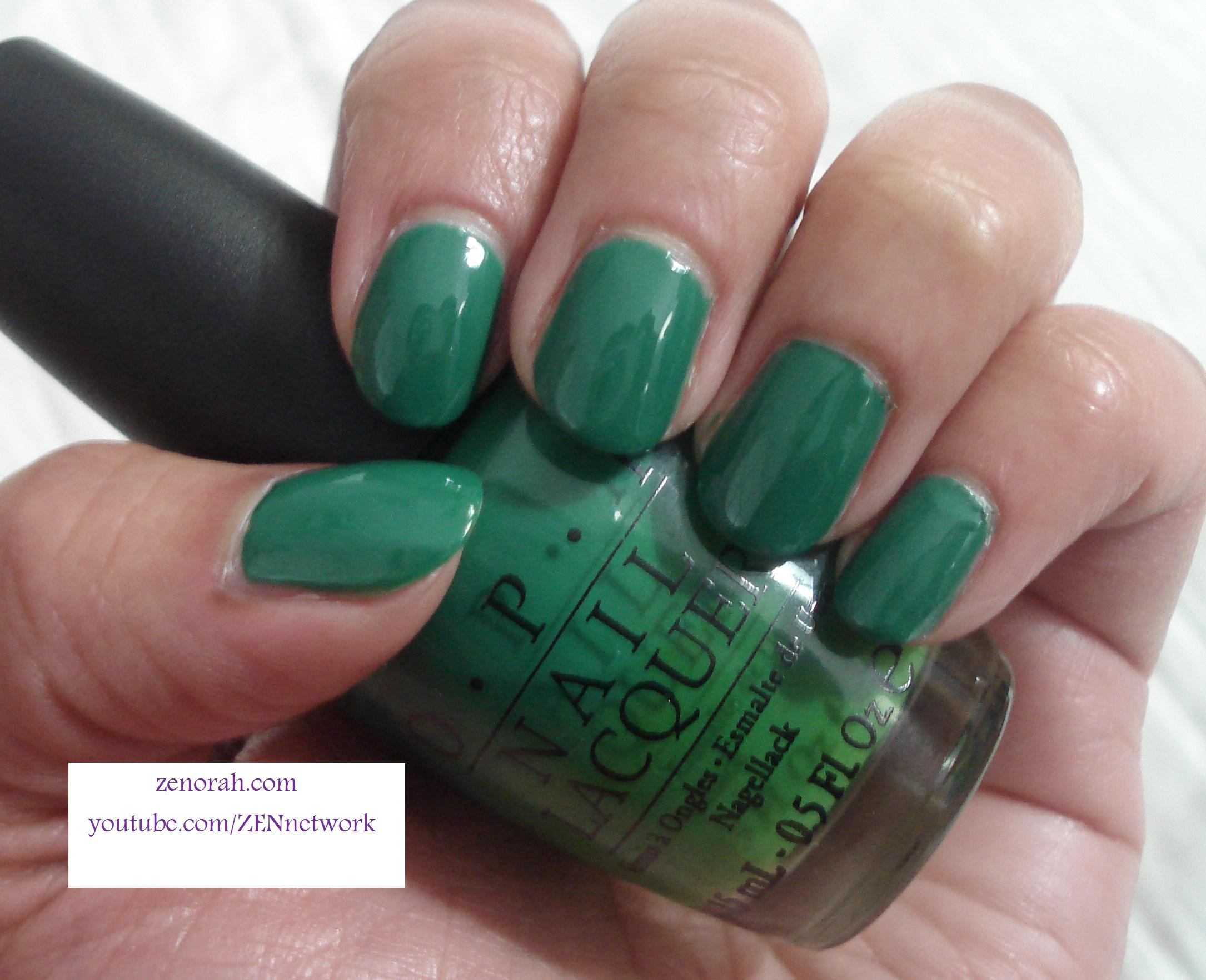 OPI Jade is The New Black – Zenorah