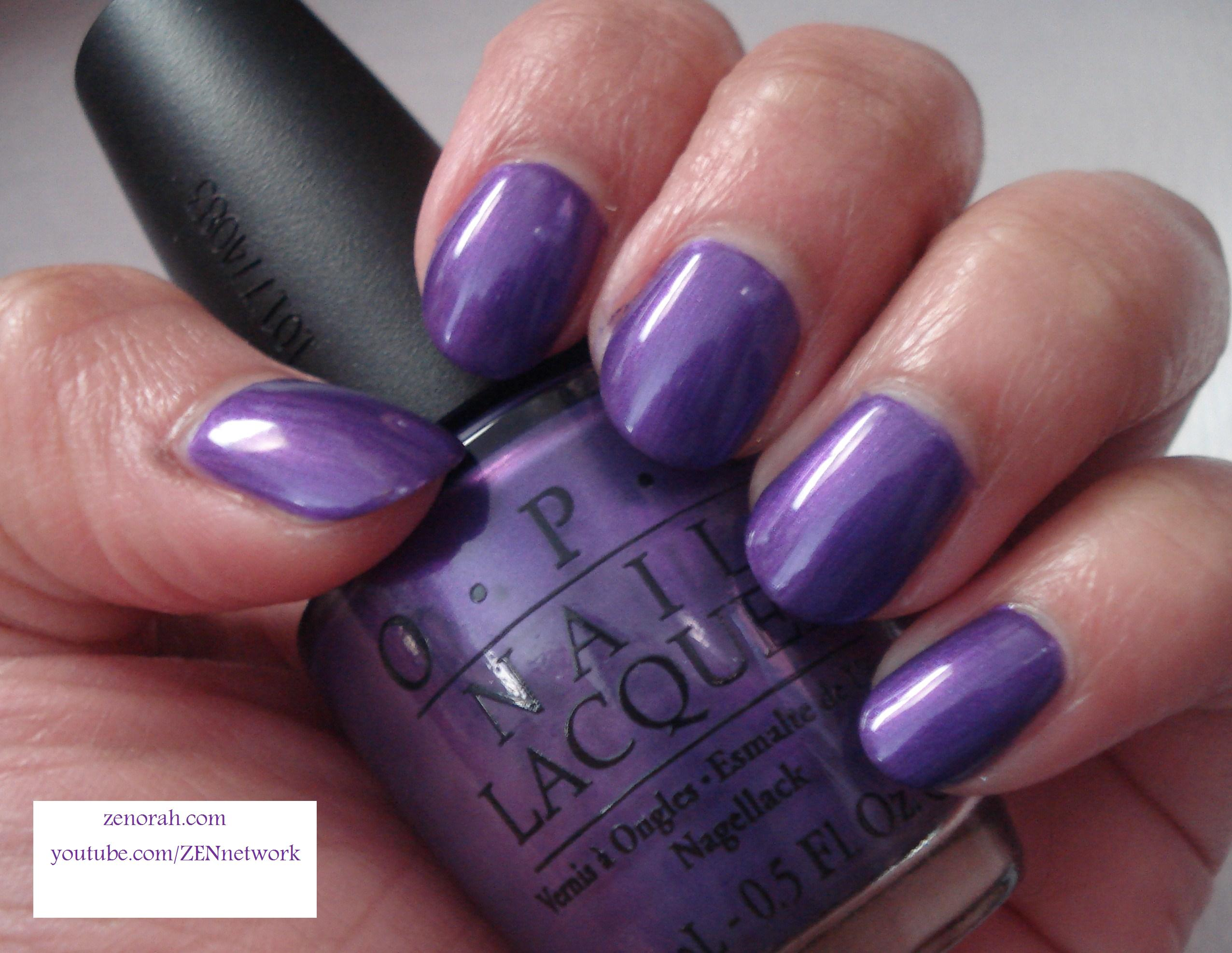 OPI Purple With a Purpose – Zenorah