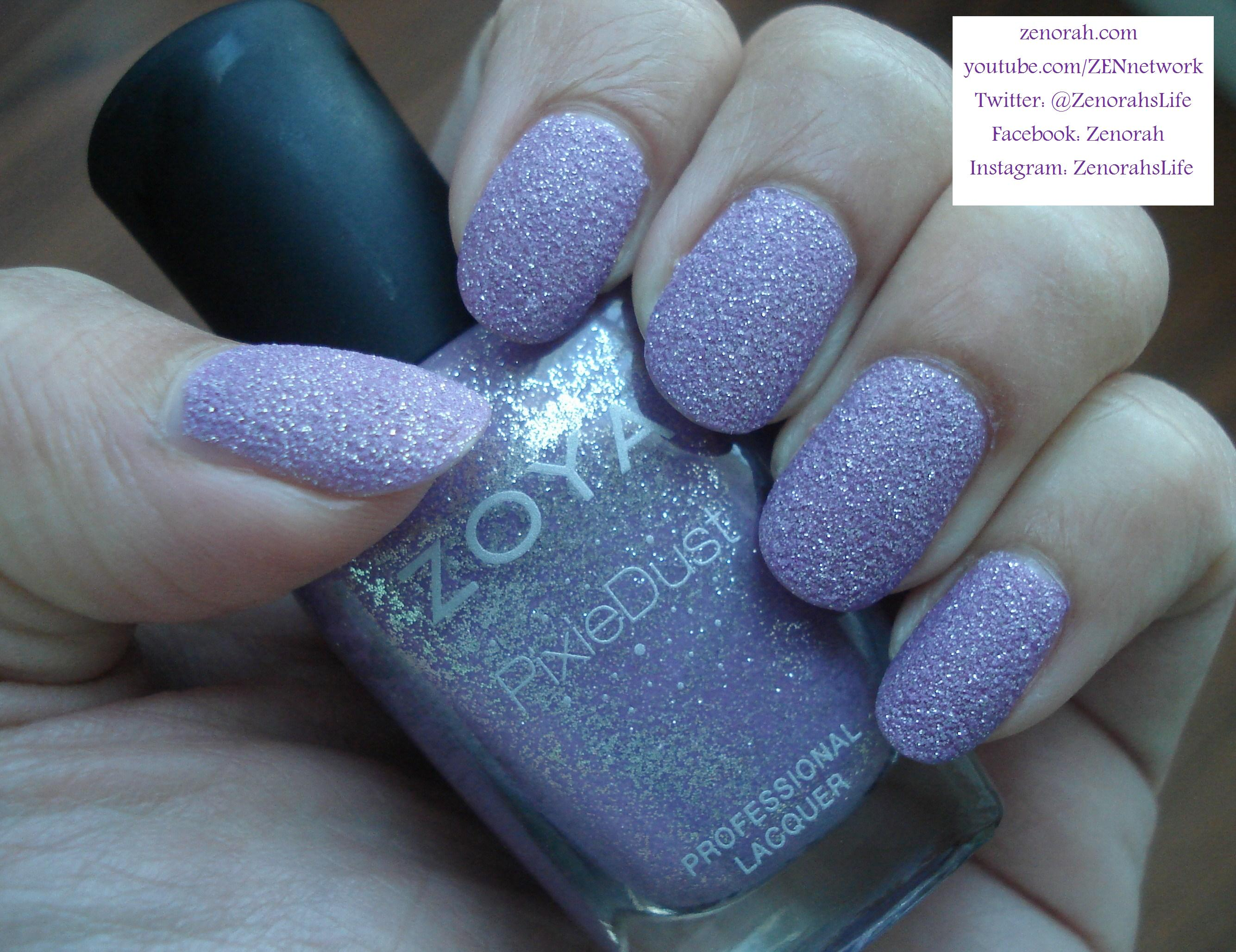 Zoya Stevie Is A Gorgeous Lilac Polish Infused Within Zoyas Pixie Dust Formulation From Their Summer Collection 2013